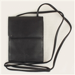 Liza Minelli Owned and Used Black Leather Shoulder Bag