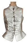 "Alicia Keys ""As I Am Tour"" Stage Worn Custom Made Silver Metallic Vest"