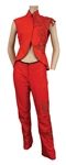 Alicia Keys 2003 Pre-Grammy Awards Party Stage Worn Roberto Cavalli Red Top and Pants