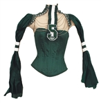 Alicia Keys Countdown To Kickoff NFL Times Square Concert Worn Green Jets Bustier and Top