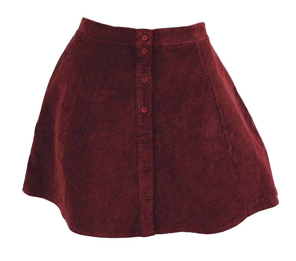 c7b420a0a7fe Lot Detail - Taylor Swift Owned & Worn Dark Red/Wine Corduroy Mini Skirt