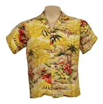 Bruce Springsteen and The E Street Band Steven Van Zandt 1970s Stage Worn Hawaiian Shirt
