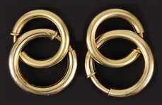 Madonna Owned & Worn Silver Hoop Earrings (Two Pairs)