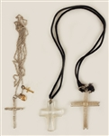 Madonna Owned & Worn Necklaces With Crosses Circa Mid-1980s