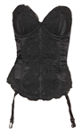 "Madonna Owned & Worn ""Trash Lingerie"" Black Corset Circa 1989"