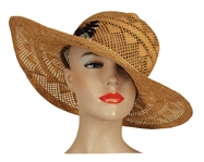 Liza Minnelli Owned & Worn Straw Hat with Feathers