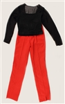 Liza Minnelli Owned and Worn Black Long-Sleeved Top and Red Pants