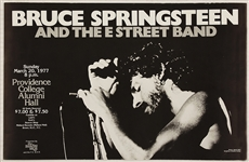Bruce Springsteen and the E Street Band Original 1977 Providence College Concert Poster