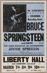 Bruce Springsteen and Band Original 1974 Liberty Hall Concert Poster