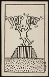 Keith Haring Original Signed and Dated Artwork, 1983