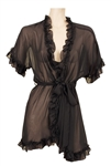 "Christina Aguilera ""Burlesque"" Film Worn Sheer Black Negligee"