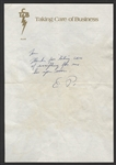 Elvis Presley Handwritten & Initialed Note to Tom Hulett on TCB Stationery