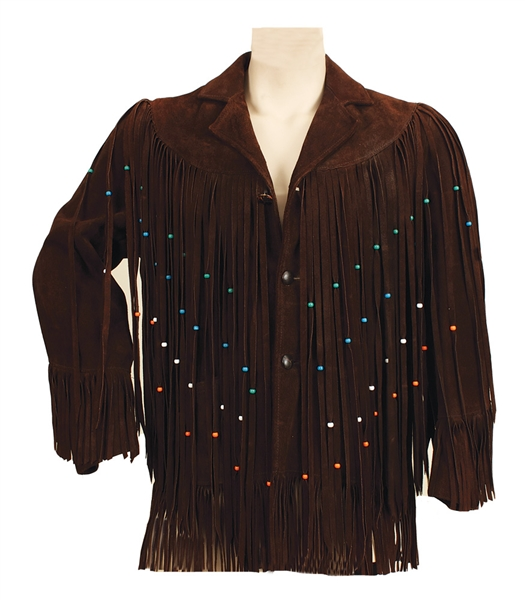 Elvis Presley Owned & Worn Nudies Brown Suede Fringed Jacket