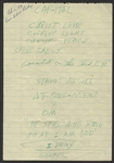 Elvis Presley Handwritten Spiritual Notes
