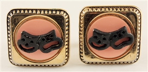 Elvis Presley Owned & Worn Comedy/Tragedy Mask Cufflinks
