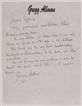 Gregg Allman Rare Handwritten & Signed Letter About His Grandfather Alfred Allman Who Was His Hero