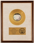 "Beatles ""Something"" Original RIAA White Matte Gold Single Record Award Presented to Apple Records"