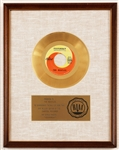 "Beatles ""Yesterday"" Original RIAA White Matte Gold Single Record Award Presented to The Beatles"