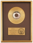 "Beatles ""Paperback Writer"" Original RIAA Gold Single Record Award Presented to The Beatles"