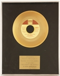 "Stevie Wonder ""You Havent Done Nothing"" Gold Single Record Award"