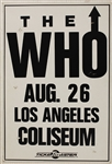"The Who 1989 Original ""The Kids Are Alright"" L.A. Coliseum Original Concert Poster"