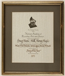 "NARAS Original Doobie Brothers ""What A Fool Believes"" Grammy Certificate for Song of the Year"
