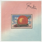 "Gregg Allman Signed Allman Brothers Band ""Eat a Peach"" Album Insert"