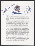 Tom Constanten, David Nelson and Donna Jean Godchaux Signed Arista Records Original Grateful Dead Biography
