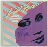 "Aretha Franklin Signed ""Whos Zoomin Who"" Album"