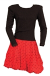 Janet Jackson Owned & Worn Red and Black Long-Sleeved Dress