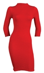 Janet Jackson Owned & Worn Long-Sleeved Red Dress