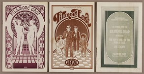 Fillmore East Original Concert Programs: Jefferson Airplane and The Grateful Dead