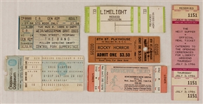 Original Concert Ticket and Club Ticket Collection Featuring  Eric Clapton, The Grateful Dead, The Band and More