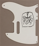 The Who John Entwistle Original Spider Drawing on Pickguard