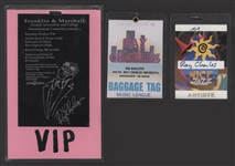 Ray Charles Personally Owned & Used Concert Laminates