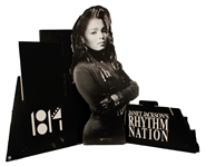 """Janet Jacksons Rhythm Nation 1814"" Original Cardboard Promotional Standup"