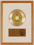 "Harold Melvin and the Blue Notes ""If You Dont Love Me By Now"" Original RIAA White Matte Gold Single Record Award"