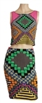 Beyoncé Owned & Worn Aztec Multi-Color Top and Skirt