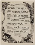 The Doors/Pink Floyd Original 1968 Concert Handbill