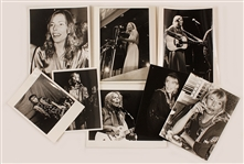 Joni Mitchell Original Stamped Photographs