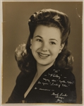 Jane Withers Signed & Inscribed Photograph to Farley Granger