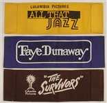Original Movie Director Chairbacks for All That Jazz, The Survivors and Faye Dunaway
