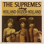 "Diana Ross and Mary Wilson Signed ""The Supremes Sing Holland-Dozier-Holland"" Album"