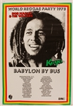 Bob Marley & The Wailers World Reggae 1978 Babylon by Bus  Tour Original Concert Poster