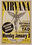 Nirvana Rare 1994 Concert Poster from A Limited Edition Box Set