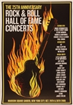 Rock & Roll Hall of Fame 25th Anniversary Concert Original Poster Featuring U2, Springsteen, Clapton, Beck and More