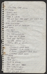 "Guns N Roses Slash Handwritten Working Lyrics Titled ""Couldnt Care Less"""