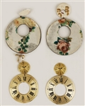Liza Minnelli Owned & Worn Earrings (Two Pairs)
