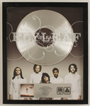 Flyleaf Original A&M Records/Octone Platinum Album & C.D Award for Their Self-Titled Album