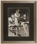 """Guitar Gods"" Eric Clapton, George Harrison and Carl Perkins Original Limited Edition Giclée Print"